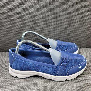 Womens Sz 8.5 Wide Blue Ryka Jenny Slip On Shoes
